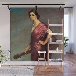 Classical Masterpiece 'La Copla' by Julio Romero de Torres Wall Mural
