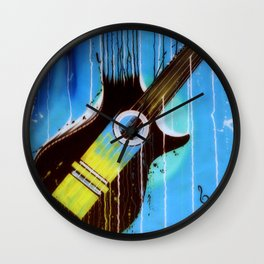 Weeping Guitar Wall Clock