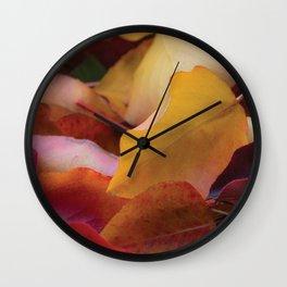 Fall Leaves Wall Clock