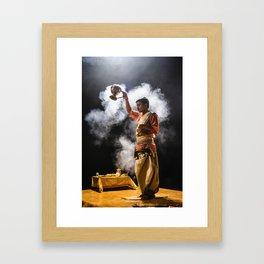 Ganga Puja Framed Art Print