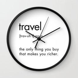 Travel Definition Wall Clock