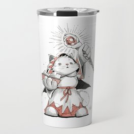 White Mage Munchkin Cat Travel Mug