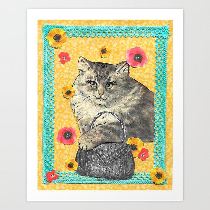 Not sorry U Lost Ur Bag handcut collage Art Print