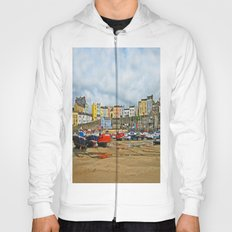 Tenby Harbour . Sunlight. Pembrokeshire. Wales. Hoody
