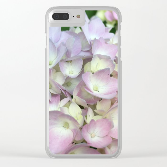 Butterfly Hydrangea Clear iPhone Case