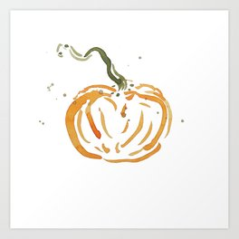 Abstracted Pumpkin Art Print
