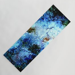Cool Blue Galaxy Yoga Mat