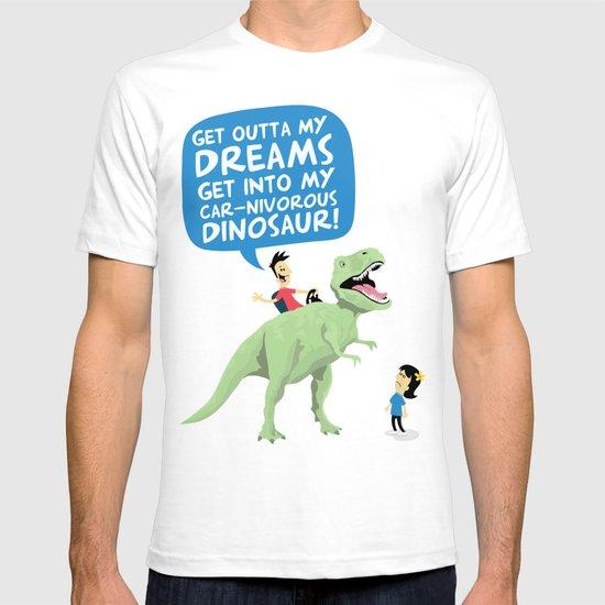 my car-nivorous dinosaur T-shirt