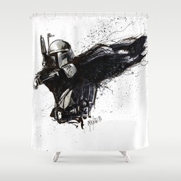 BOBA FETT INKS Shower Curtain