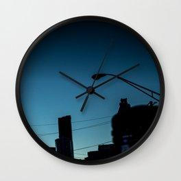 Blue City Sky Wall Clock