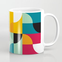 Geometric Pattern #31 (yellow red green curves) Coffee Mug