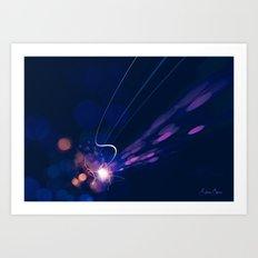 Dynamic movement of light Art Print