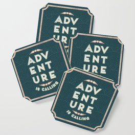 Adventure is Calling Mosaic – Mint & Teal Palette Coaster