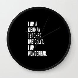 German Teacher Wall Clock