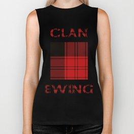 Clan Ewing Tartan Biker Tank