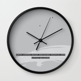 Gray Areas, Little Galaxies Wall Clock