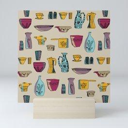 Kitchenware Containers mid century Mini Art Print