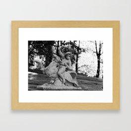 riding a lion Framed Art Print