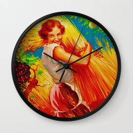 Vintage French Gardening Ad Wall Clock
