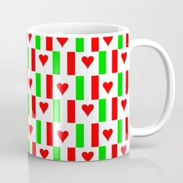 Flag of Italy with heart - Italy,Italia,Italian,Latine,Roma,venezia,venice,mediterreanean,Genoa,fire Coffee Mug