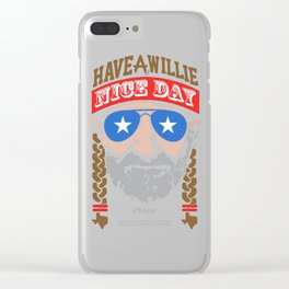 willie nelson outlaw Clear iPhone Case