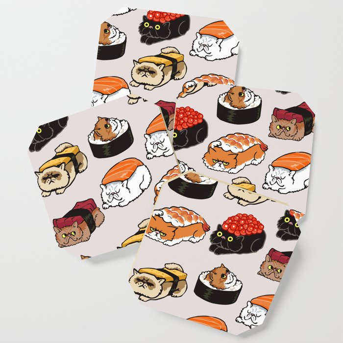 Sushi Persian Cat Coaster