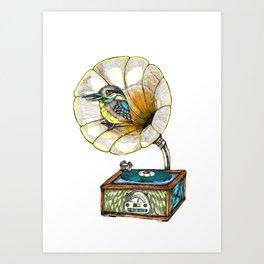 Bird Singer Art Print