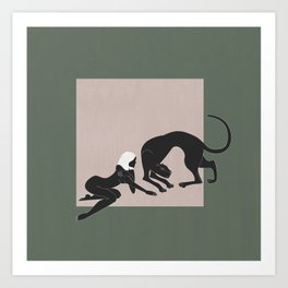 Panther Woman Art Print