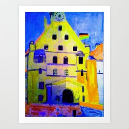 Historisches Gebäude Burg Trausnitz Landshut Art Print