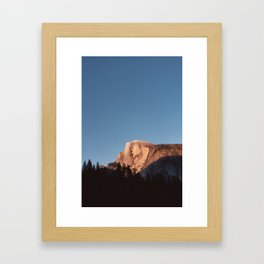 Half Dome Sunset Framed Art Print