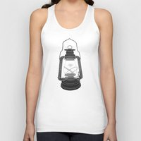 fireflies Tank Tops featuring Cage of Fireflies by Erik Sandi Satresa