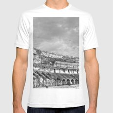 Inside of the Colosseum Mens Fitted Tee White MEDIUM