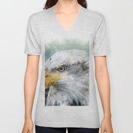 Bald Eagle Haliaeetus Unisex V-Neck