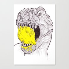 Zest For Life T-Rex Dino Canvas Print