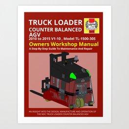 Workshop Manual - Truck Loader CB AGV - Colour Art Print