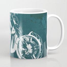 2011 HD VRSCF V-Rod Muscle green blueprint Coffee Mug