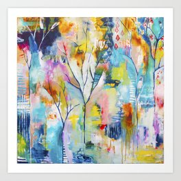 Prussian Trees Original Painting by Flora Bowley Art Print