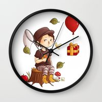 animal crossing Wall Clocks featuring Animal Crossing by MaliceZ
