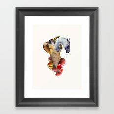 Horse Martyr Framed Art Print