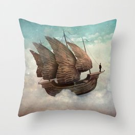 Flying Merchant Throw Pillow