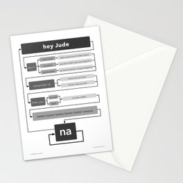 Hey Jude flowchart Stationery Cards