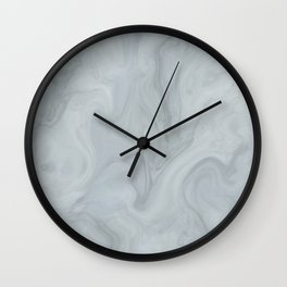 Elegant Blue Grey Marble Wall Clock