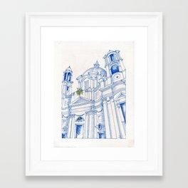 Sant'Agnese in Agone Framed Art Print
