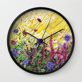 Monty's Garden Wall Clock