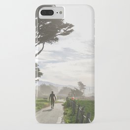 Surfer Walking to the Beach iPhone Case