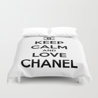 keep calm Duvet Covers featuring Keep Calm by I Love Decor