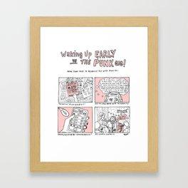 9-5 vs the punk gig Framed Art Print