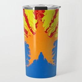 Arizona Flag Fluid Art Style 2 Travel Mug