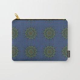 Himalayan Candy Blue - Mini Mandala Pattern Carry-All Pouch