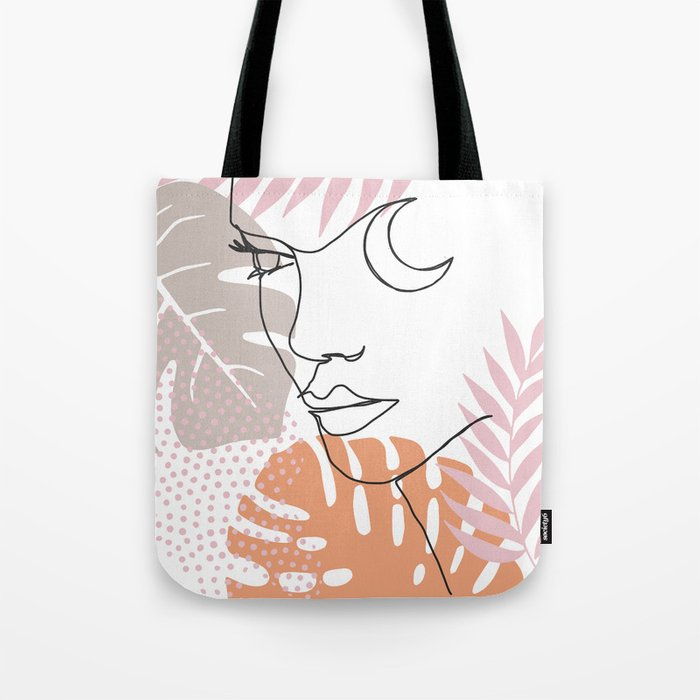 Jungle Line Girl Tote Bag